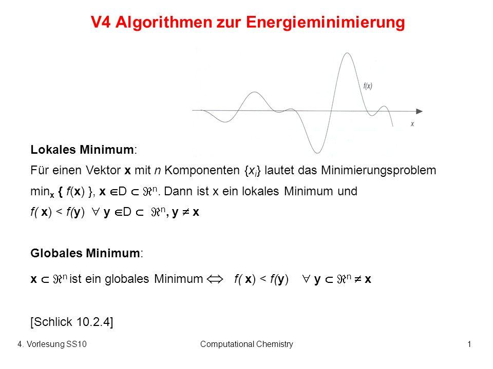 V4 Algorithmen zur Energieminimierung