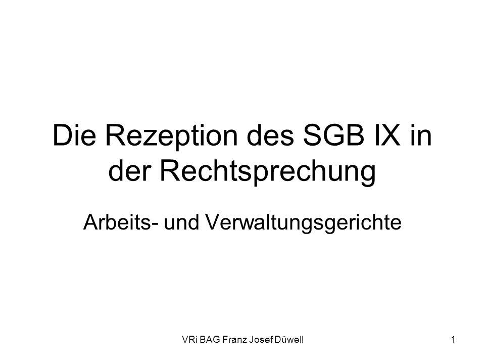 Die Rezeption des SGB IX in der Rechtsprechung