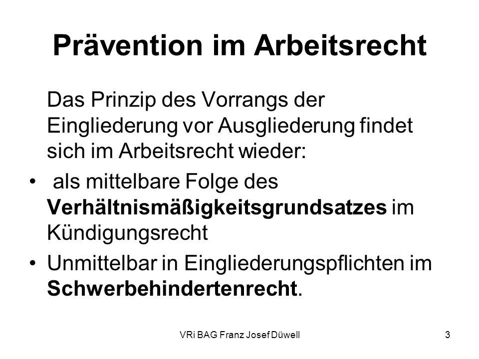Prävention im Arbeitsrecht