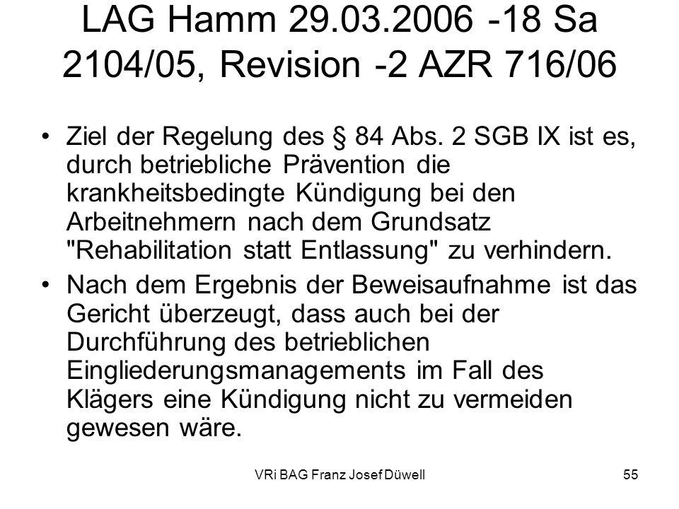 LAG Hamm 29.03.2006 -18 Sa 2104/05, Revision -2 AZR 716/06
