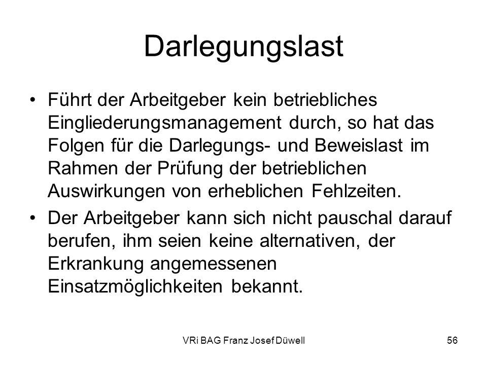 VRi BAG Franz Josef Düwell