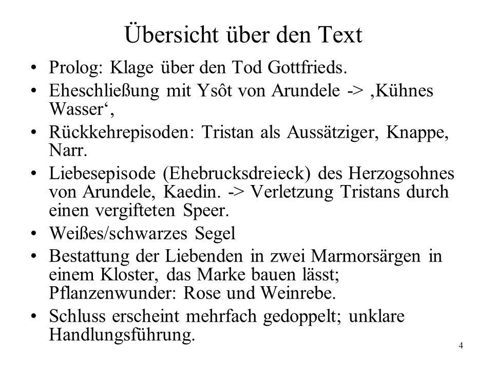 Übersicht über den Text