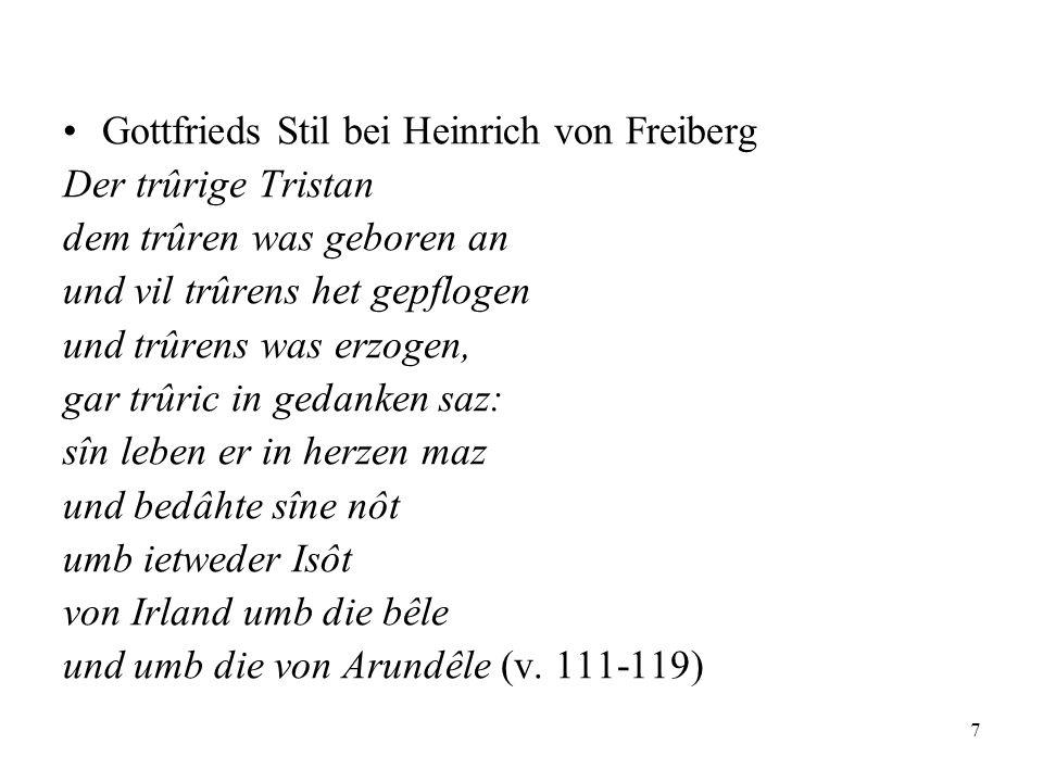 Gottfrieds Stil bei Heinrich von Freiberg