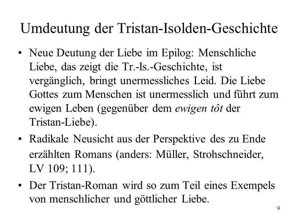 Umdeutung der Tristan-Isolden-Geschichte