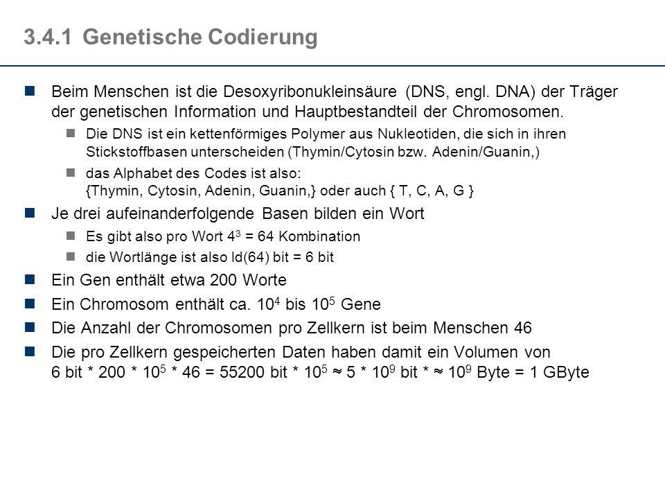 3.4.1 Genetische Codierung