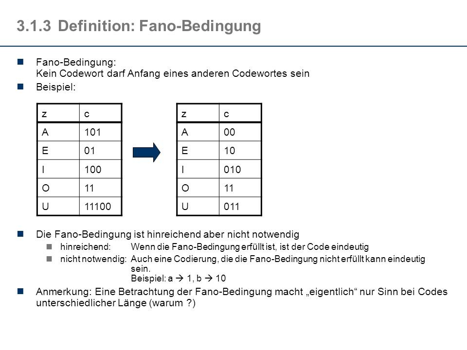 3.1.3 Definition: Fano-Bedingung