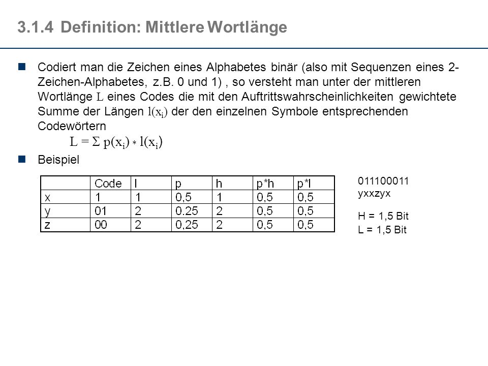 3.1.4 Definition: Mittlere Wortlänge