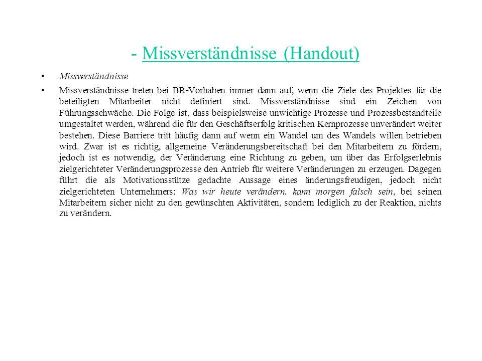 - Missverständnisse (Handout)