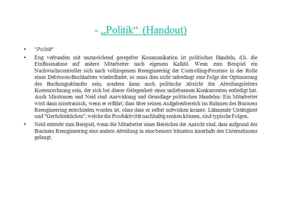 """- """"Politik (Handout) Politik"""