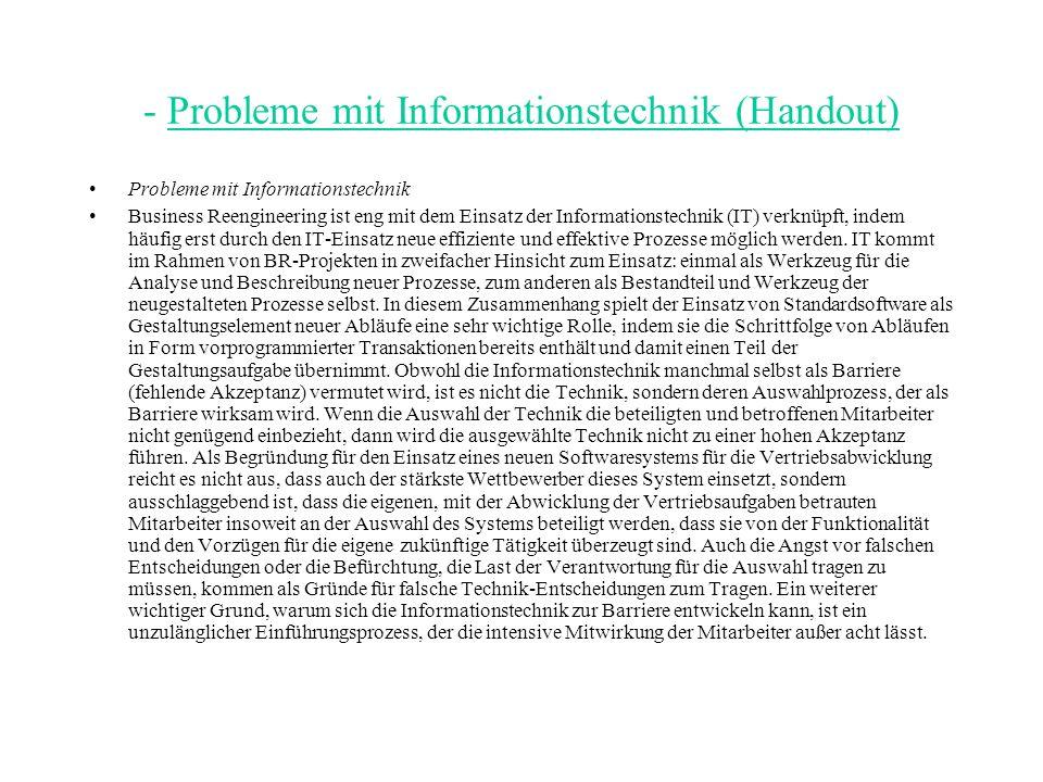 - Probleme mit Informationstechnik (Handout)