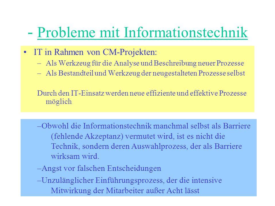 - Probleme mit Informationstechnik