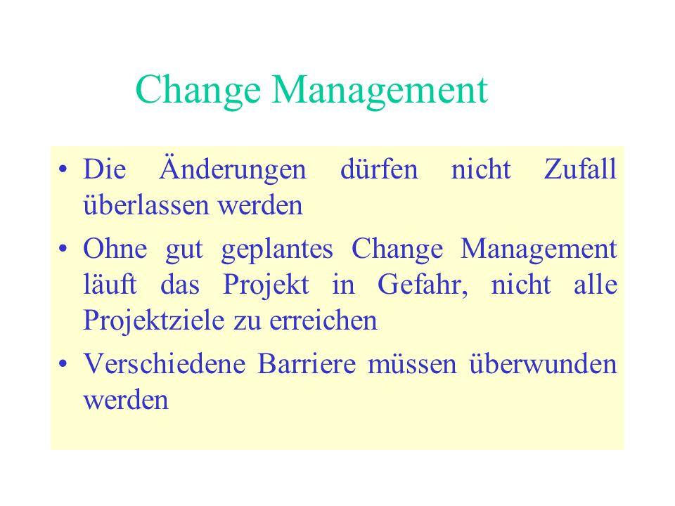 Change Management Die Änderungen dürfen nicht Zufall überlassen werden