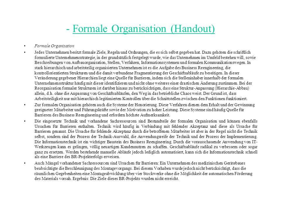 - Formale Organisation (Handout)