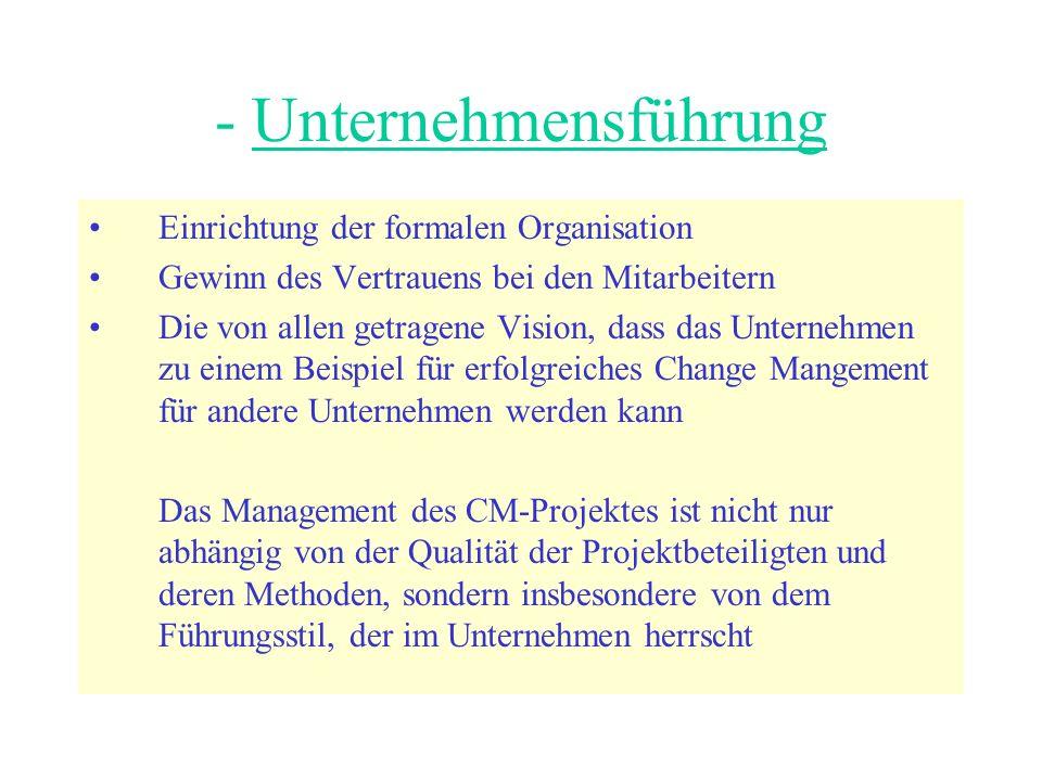 - Unternehmensführung