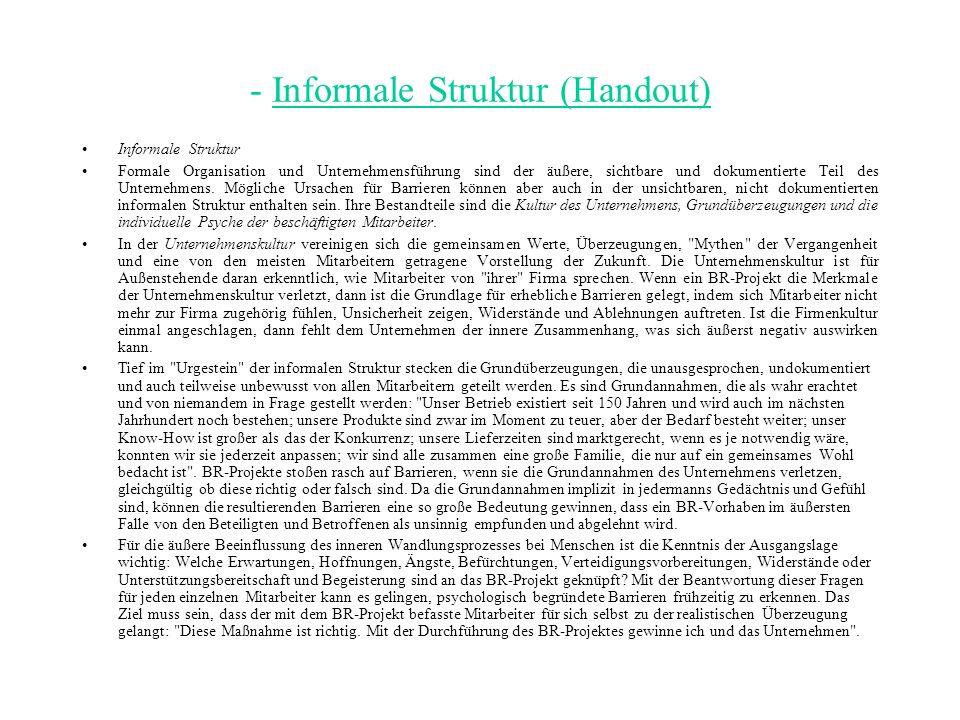 - Informale Struktur (Handout)