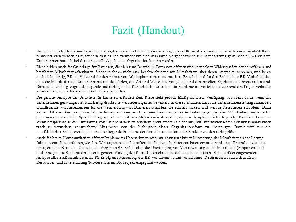 Fazit (Handout)