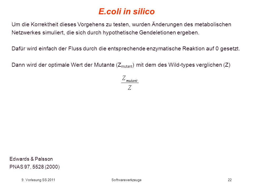 E.coli in silico