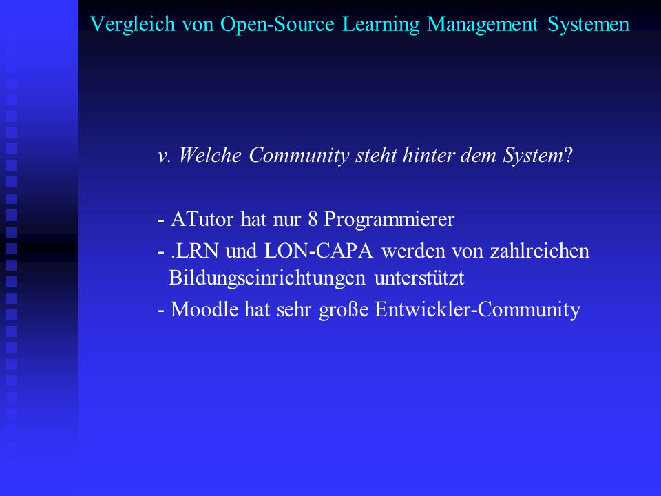 Vergleich von Open-Source Learning Management Systemen