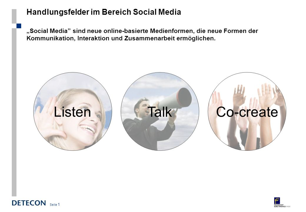 Handlungsfelder im Bereich Social Media