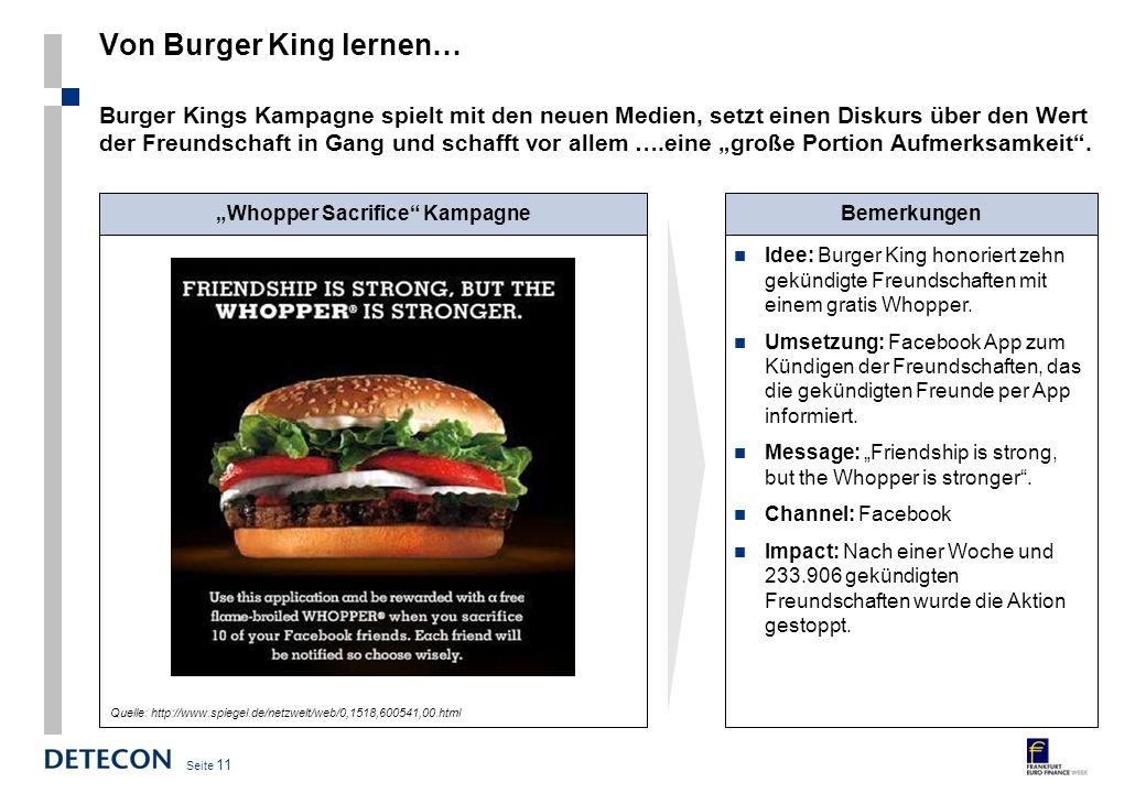 Von Burger King lernen…