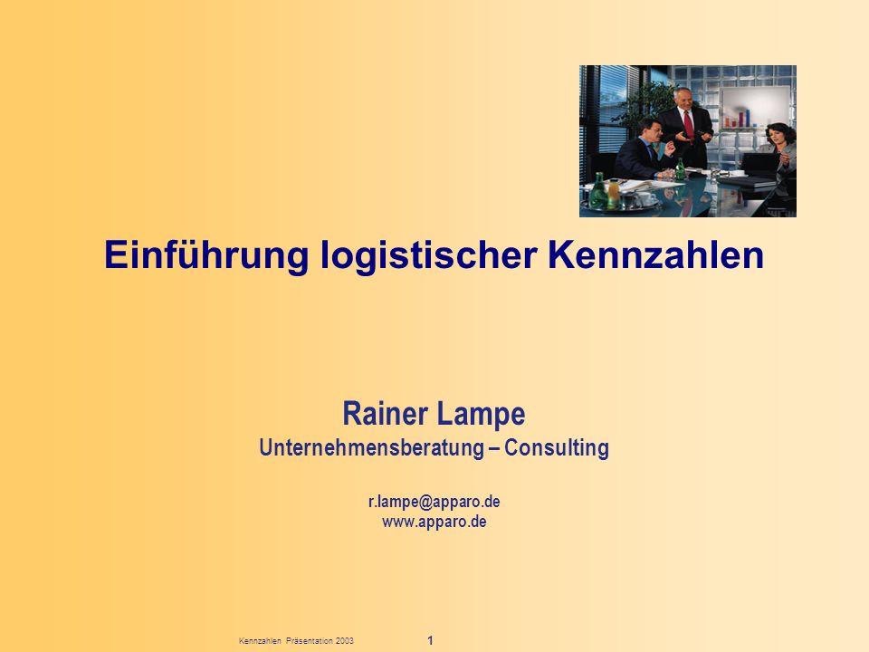 Einführung logistischer Kennzahlen
