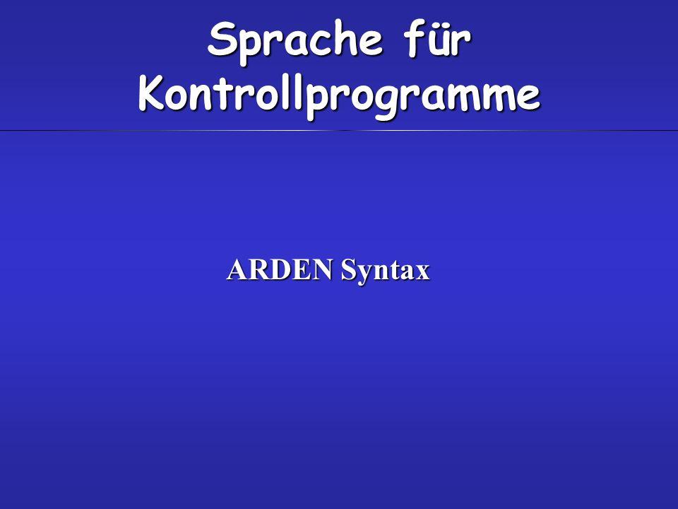 Sprache für Kontrollprogramme