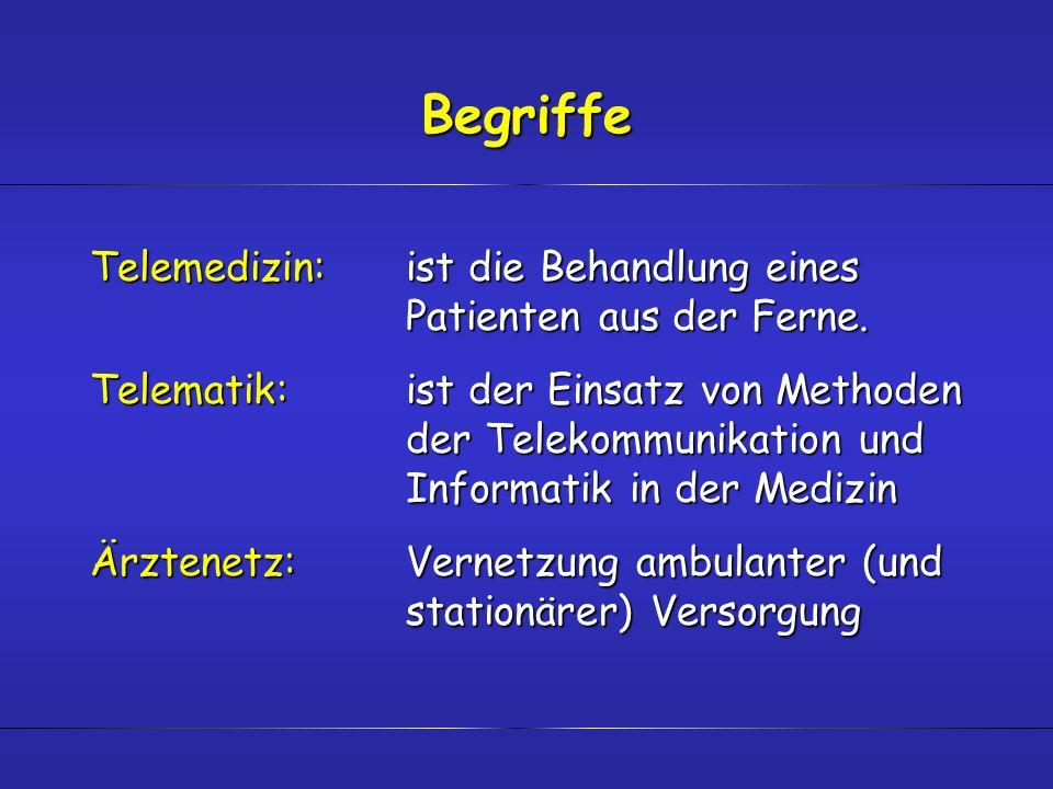 BegriffeTelemedizin: ist die Behandlung eines Patienten aus der Ferne.