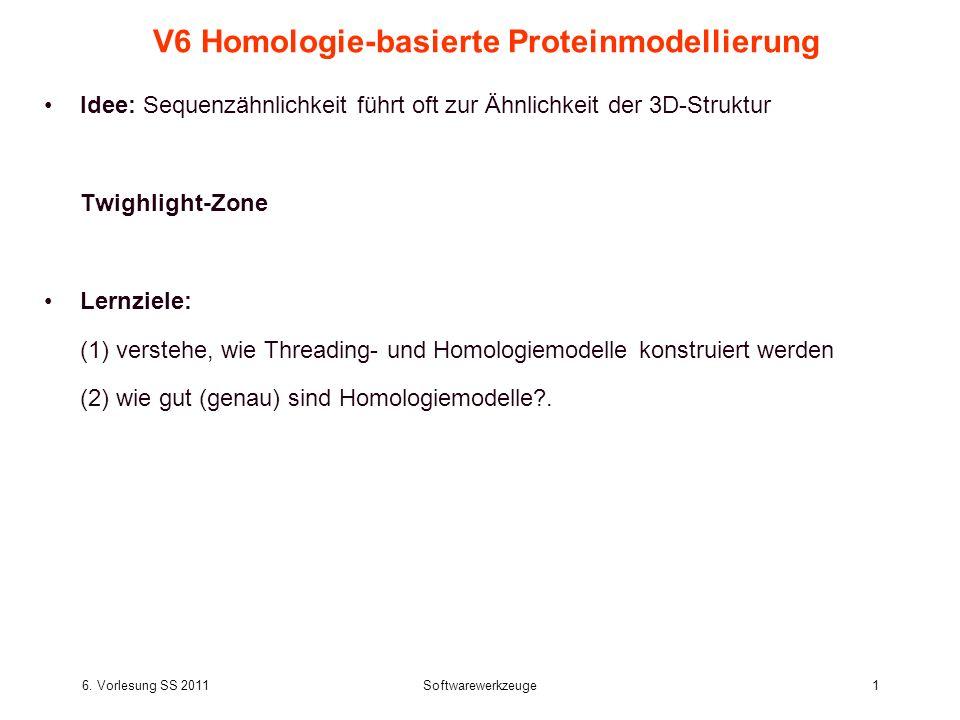 V6 Homologie-basierte Proteinmodellierung