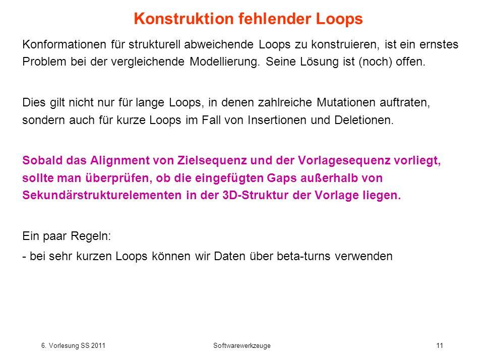 Konstruktion fehlender Loops