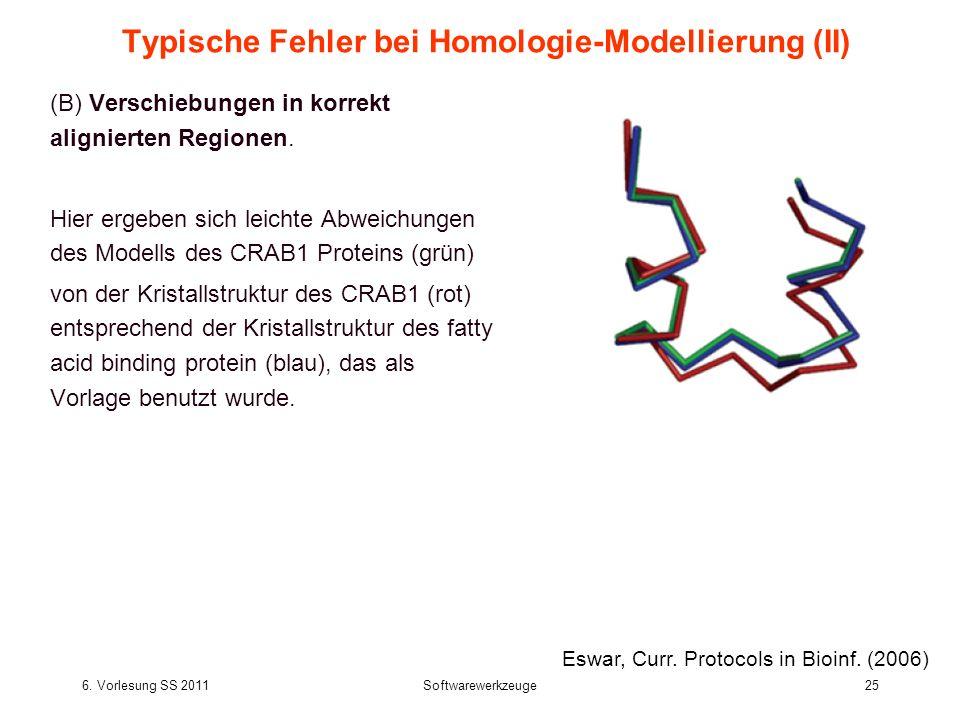 Typische Fehler bei Homologie-Modellierung (II)