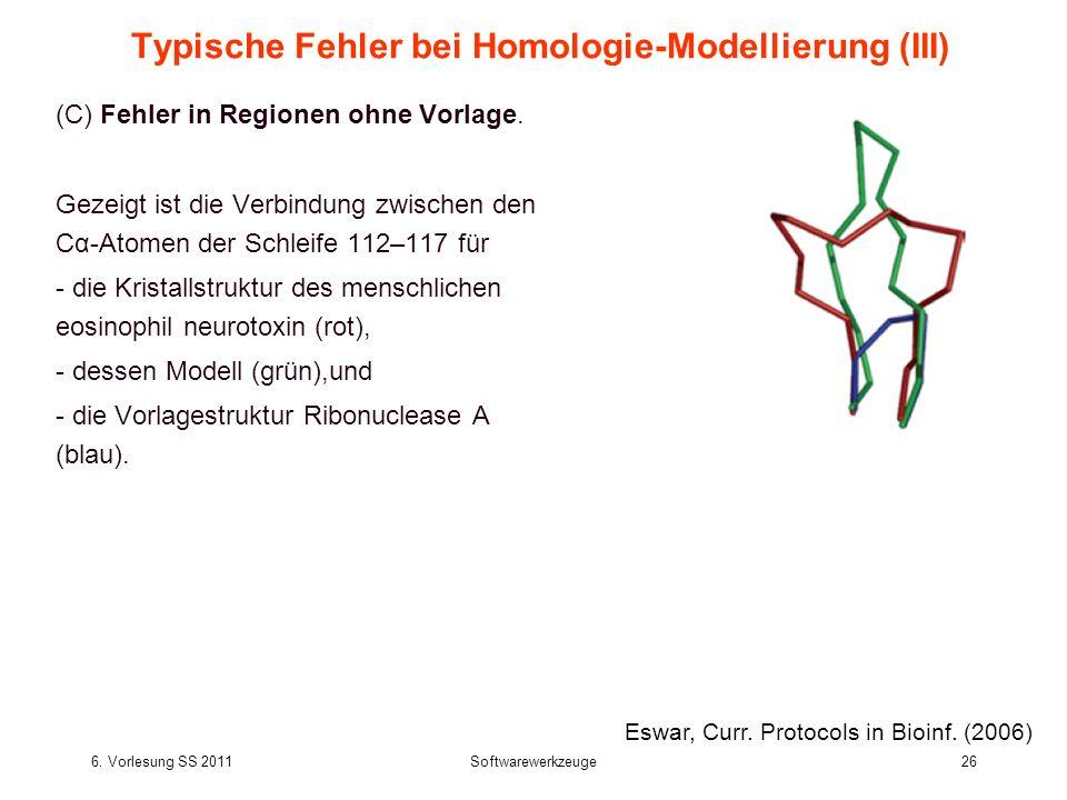 Typische Fehler bei Homologie-Modellierung (III)
