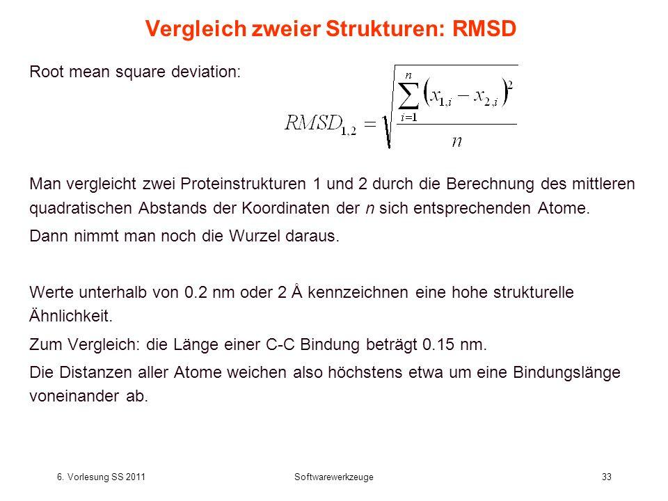 Vergleich zweier Strukturen: RMSD