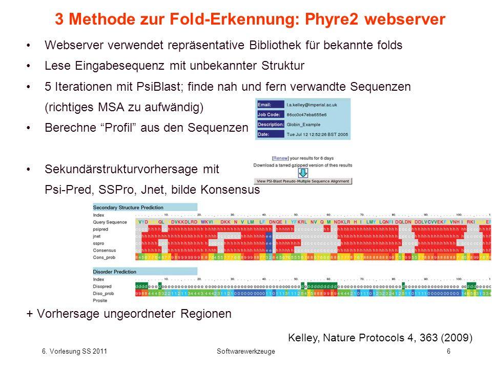 3 Methode zur Fold-Erkennung: Phyre2 webserver