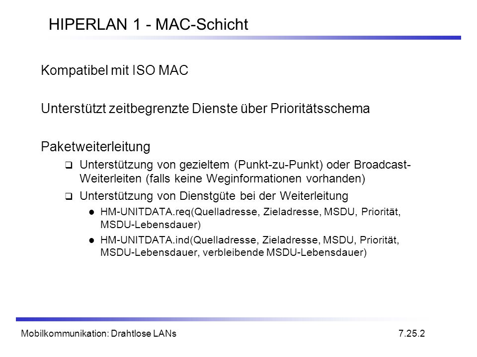 HIPERLAN 1 - MAC-Schicht