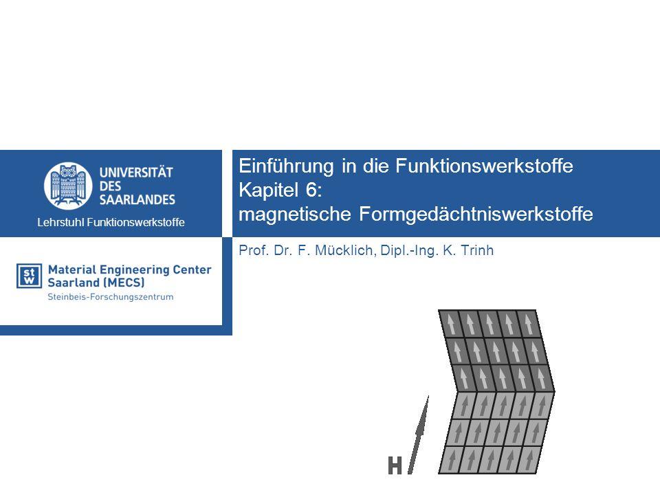 Einführung in die Funktionswerkstoffe Kapitel 6: magnetische Formgedächtniswerkstoffe