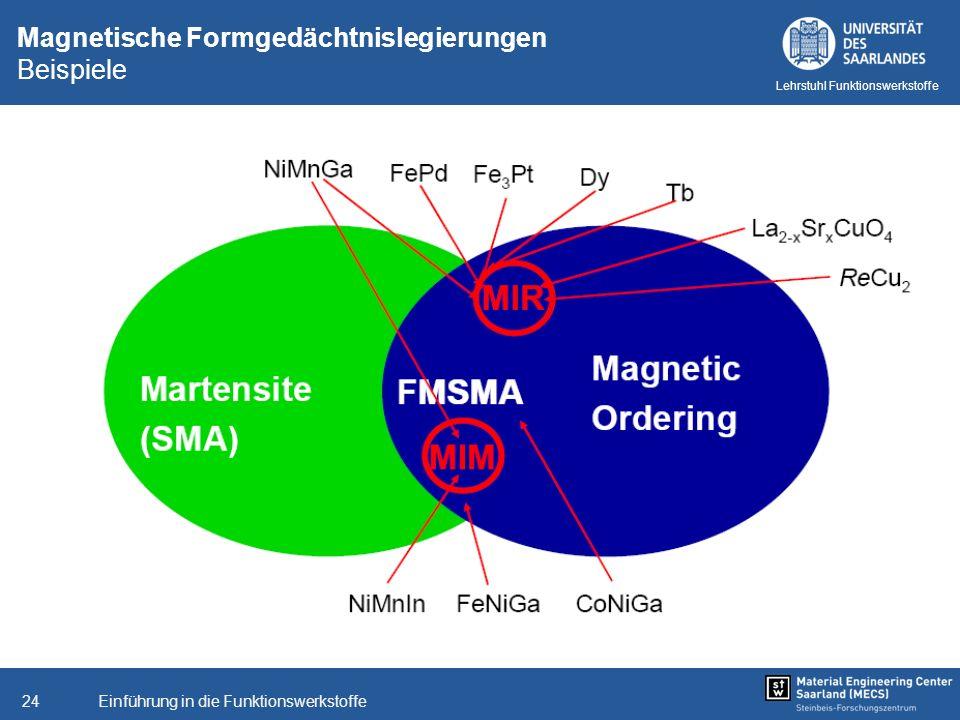 Magnetische Formgedächtnislegierungen Beispiele