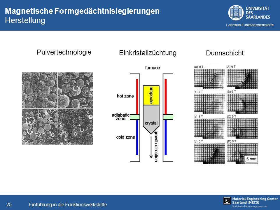 Magnetische Formgedächtnislegierungen Herstellung