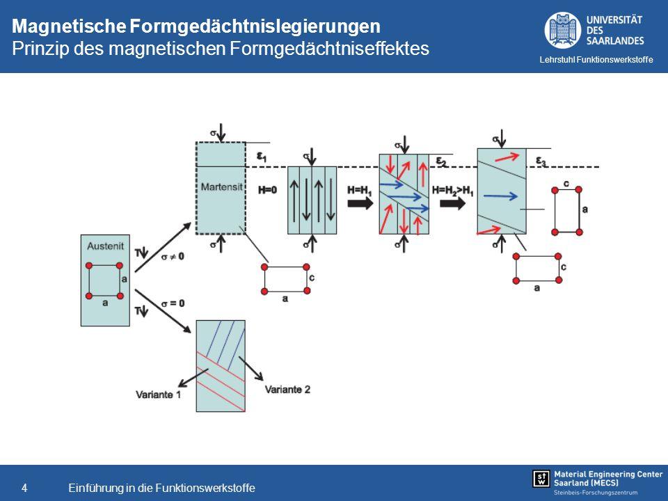 Magnetische Formgedächtnislegierungen Prinzip des magnetischen Formgedächtniseffektes
