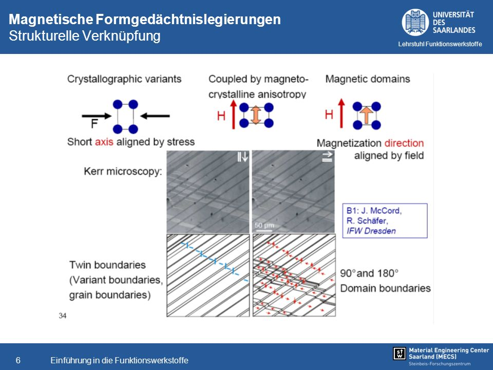 Magnetische Formgedächtnislegierungen Strukturelle Verknüpfung