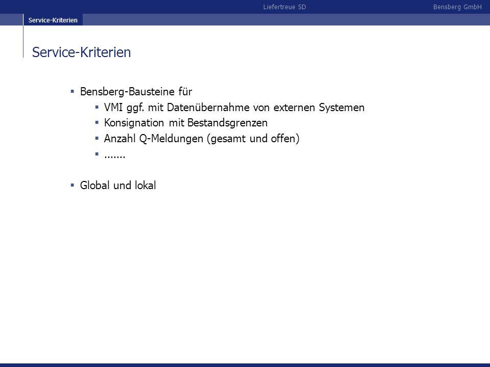 Service-Kriterien Bensberg-Bausteine für
