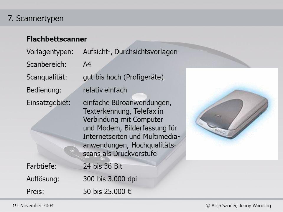 7. Scannertypen Flachbettscanner