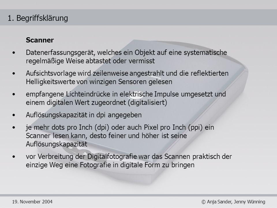1. Begriffsklärung Scanner