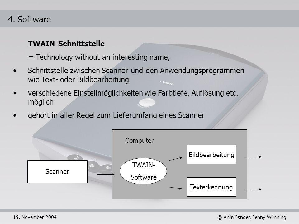 4. Software TWAIN-Schnittstelle