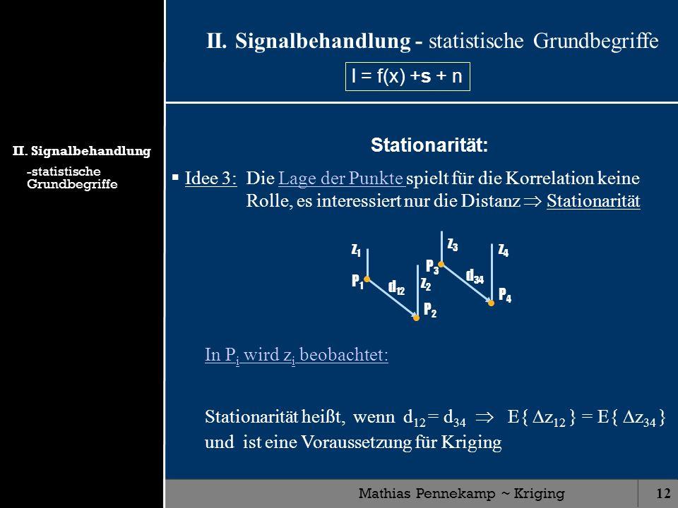 II. Signalbehandlung - statistische Grundbegriffe