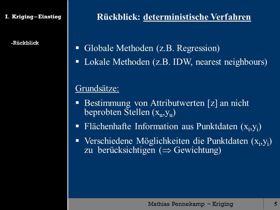 Rückblick: deterministische Verfahren