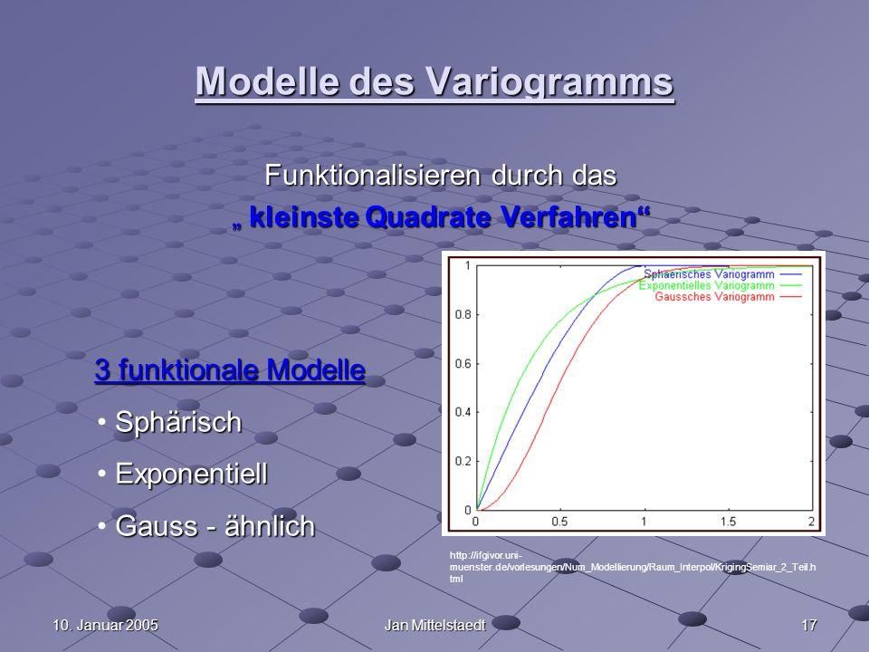 Modelle des Variogramms
