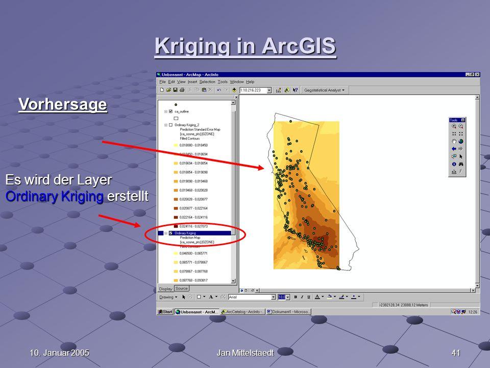 Kriging in ArcGIS Vorhersage