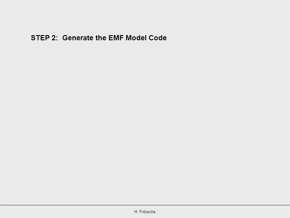 STEP 2: Generate the EMF Model Code
