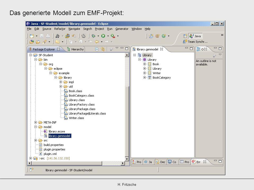 Das generierte Modell zum EMF-Projekt: