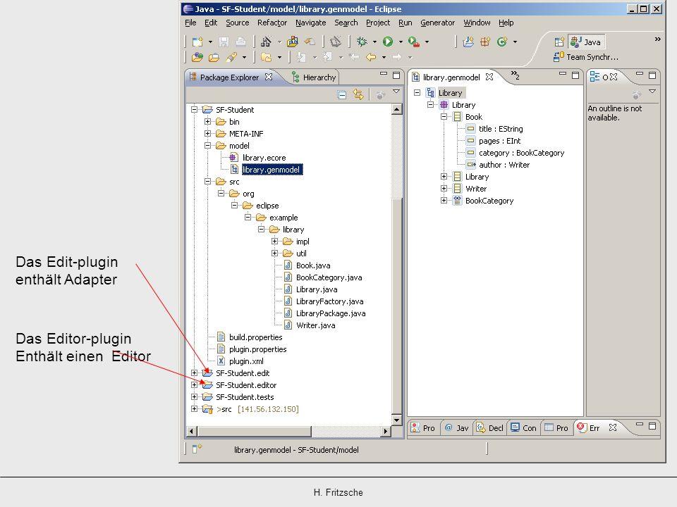 Das Edit-plugin enthält Adapter Das Editor-plugin Enthält einen Editor